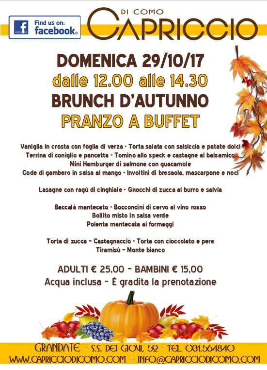brunch d'autunno 2017